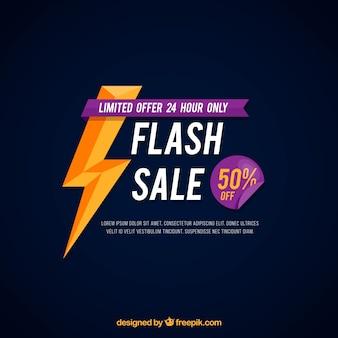 Fundo de venda de flash com estilo plano
