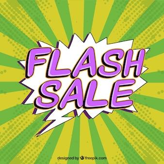 Fundo de venda de flash verde