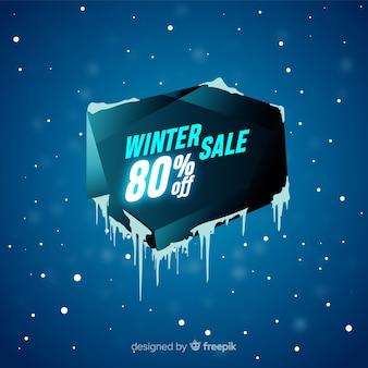 Fundo de venda de inverno de buraco de gelo