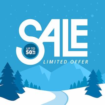 Fundo de venda de inverno plana
