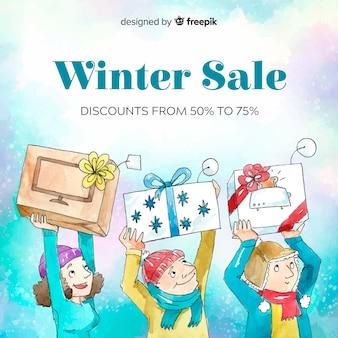 Fundo de venda de inverno