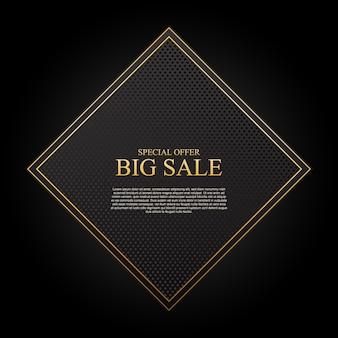 Fundo de venda de luxo com ilustração vetorial de retângulo