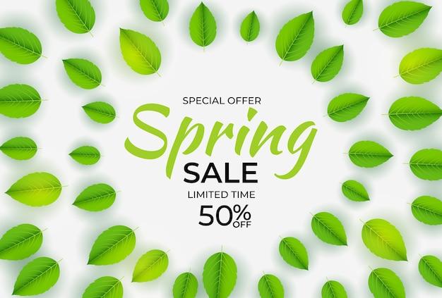 Fundo de venda de luz natural primavera.