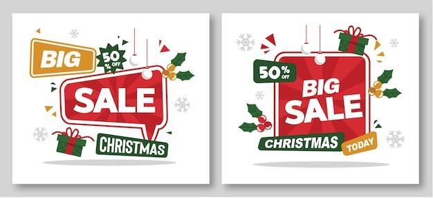 Fundo de venda de natal com presentes e descontos