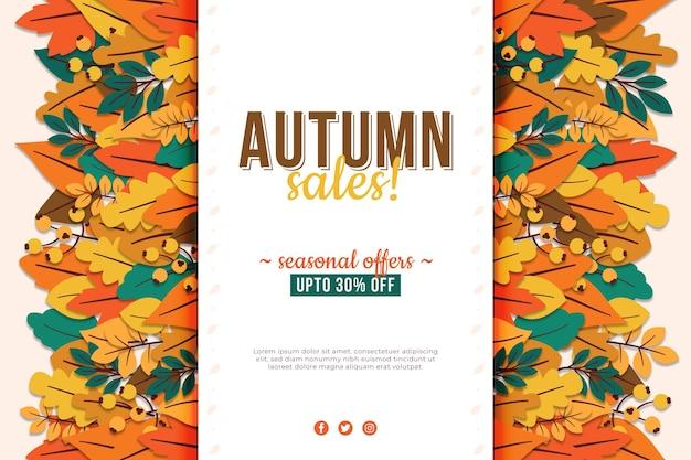 Fundo de venda de outono