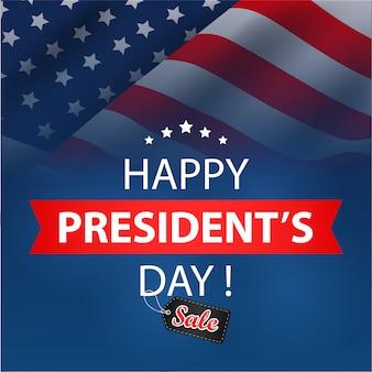 Fundo de venda de presidentes dia. ilustração vetorial