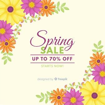 Fundo de venda de primavera canto floral