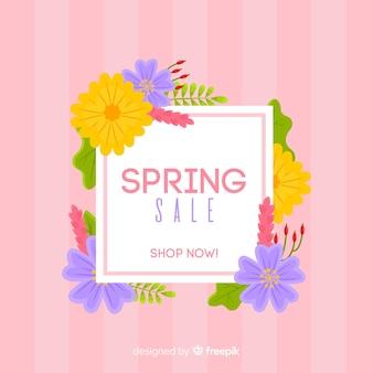 Fundo de venda de primavera colorida