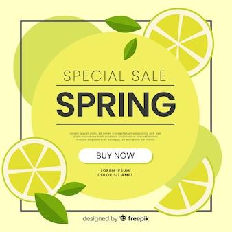 Fundo de venda de primavera de limão