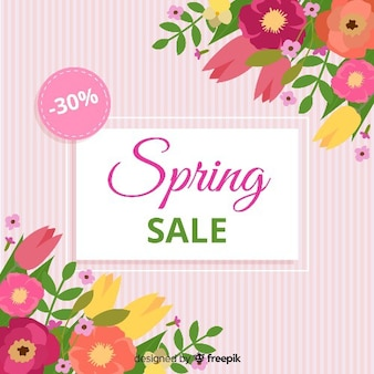 Fundo de venda de primavera listrada