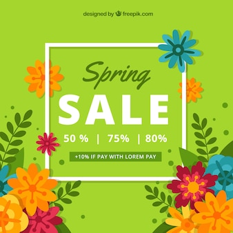 Fundo de venda de primavera verde