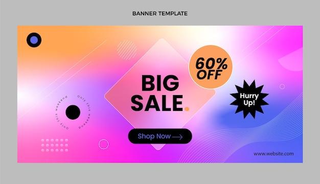 Fundo de venda de tecnologia de textura gradiente