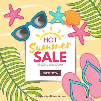 Fundo de venda de verão quente