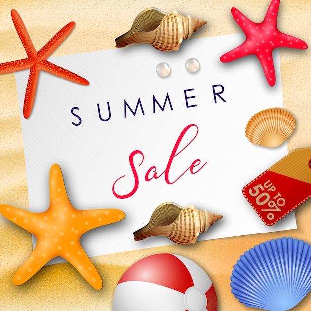 Fundo de venda de verão