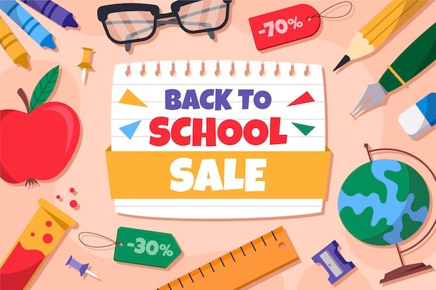 Fundo de venda de volta à escola