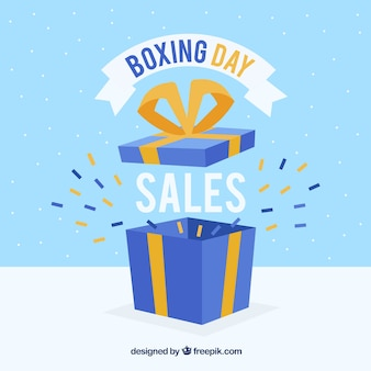 Fundo de venda do dia do boxe