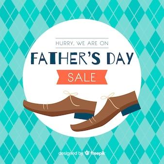 Fundo de venda do dia do pai de mão desenhada