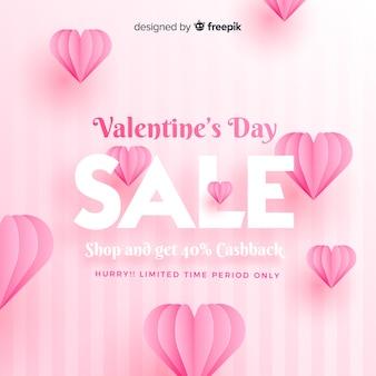 Fundo de venda do dia dos namorados realista