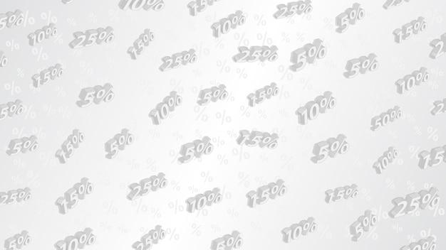 Fundo de venda e desconto com inscrições isométricas, em cores cinza
