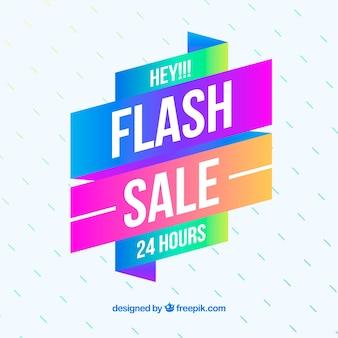 Fundo de venda em flash em estilo gradiente