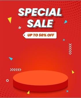 Fundo de venda especial para promoção