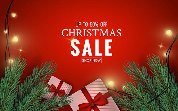 Fundo de venda feliz natal