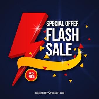 Fundo de venda flash em estilo degradado