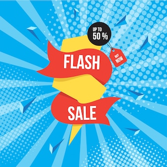 Fundo de venda flash