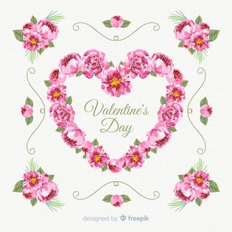 Fundo de venda floral dos namorados