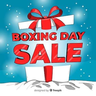 Fundo de venda grande caixa de dia de boxe