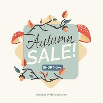 Fundo de venda lindo outono