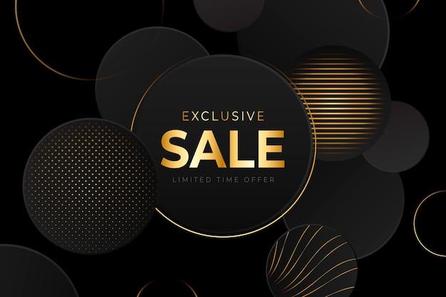 Fundo de venda luxuoso dourado e preto