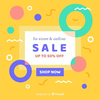 Fundo de venda minimalista abstrata plana