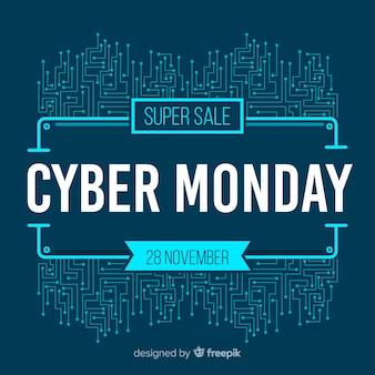 Fundo de venda moderno cyber segunda-feira