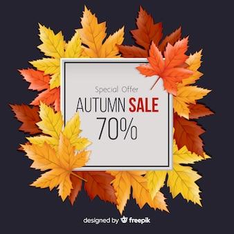 Fundo de venda outono em estilo realista