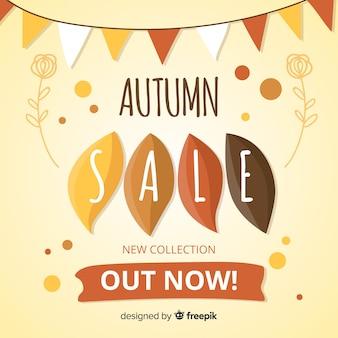 Fundo de venda outono em estilo simples