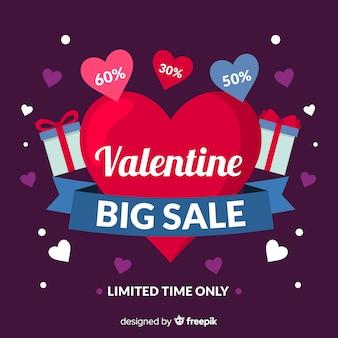 Fundo de venda plano dos namorados coração