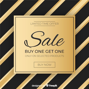 Fundo de venda preto e dourado