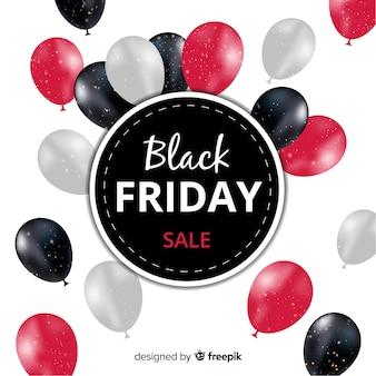 Fundo de venda sexta-feira negra abstrata com balões