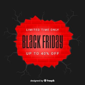 Fundo de venda sexta-feira negra abstrata em preto e vermelho