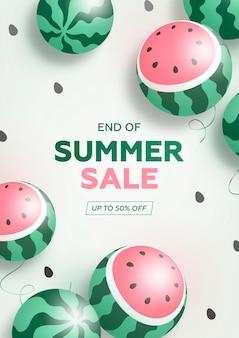 Fundo de vendas de fim de verão