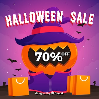 Fundo de vendas de halloween