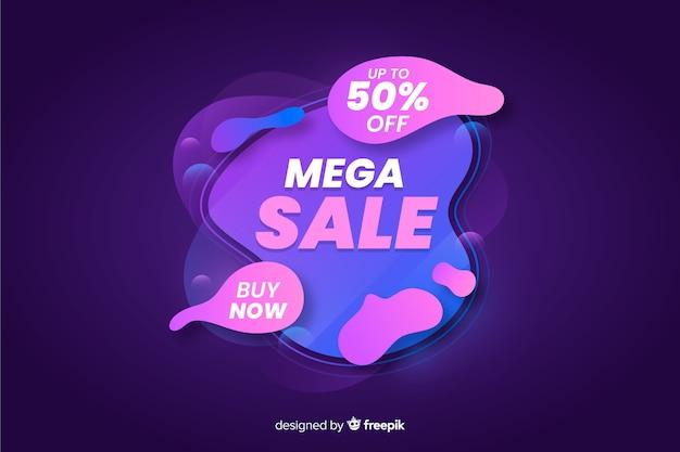 Fundo de vendas de mega líquido abstrato