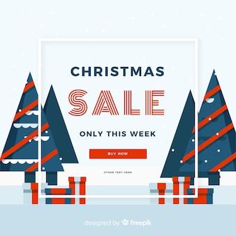 Fundo de vendas de natal moderna