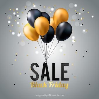 Fundo de vendas do balão preto sexta-feira