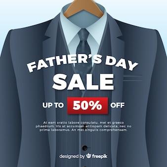 Fundo de vendas do dia do pai realista