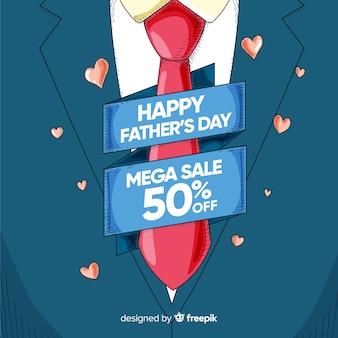 Fundo de vendas do dia dos pais