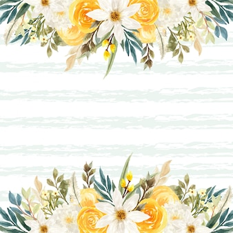 Fundo de verão com flores coloridas