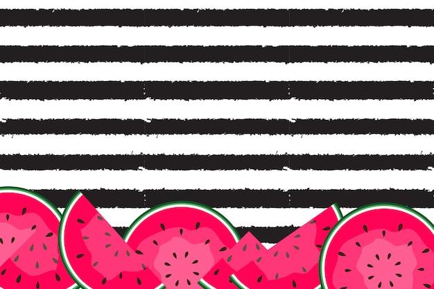 Fundo de verão com melancias