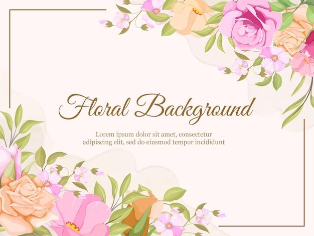 Fundo de verão com moldura floral